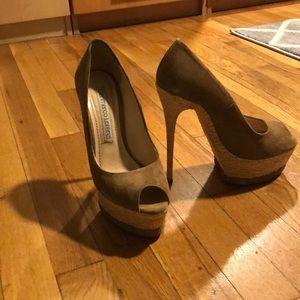 Platform peep toe stilettos